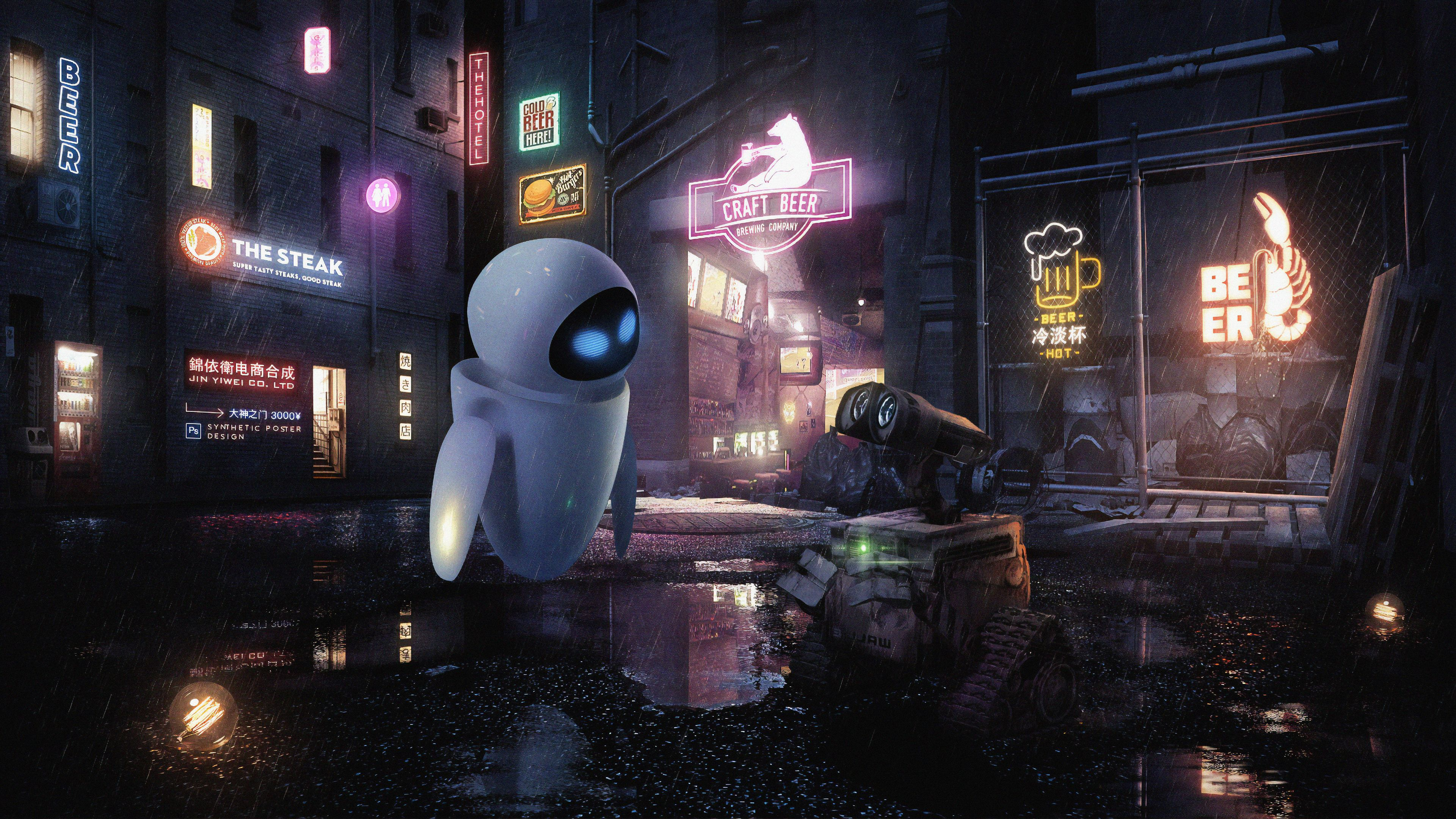3840x2160 Wall E Robot Pair Movie Wallpaper Movie Wallpapers Wallpaper Animation Background