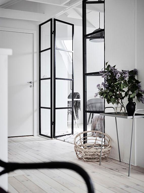 Black Metal Frame French Door Divider Interiors Scandi