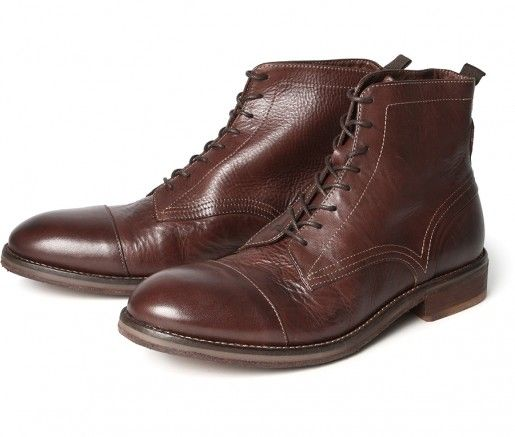 2c1607fccee Men's Palmer (Brown) Drum Dyed Leather Ankle Boots   H Shoes   Men`s ...