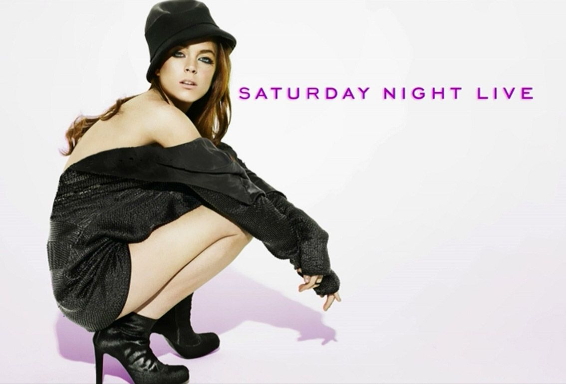 Promo Shot da Lindsay Lohans Saturday Night Live-1693