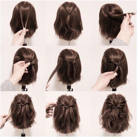 Short Hair Style Hair Style Pinterest Flechtfrisuren Frisur