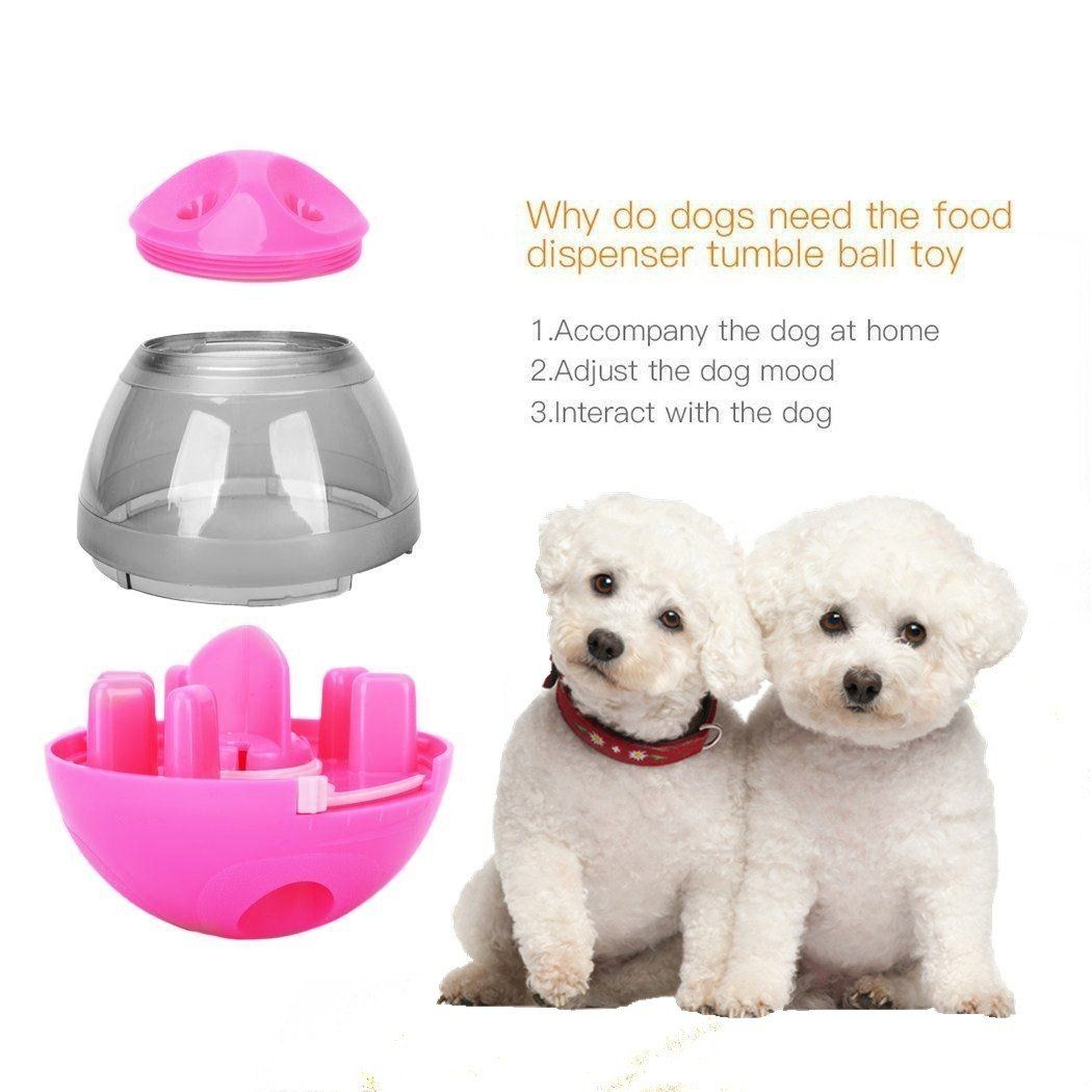 Showay Pet Treat Ball And Food Dispenser Interactive Toy For Dogs