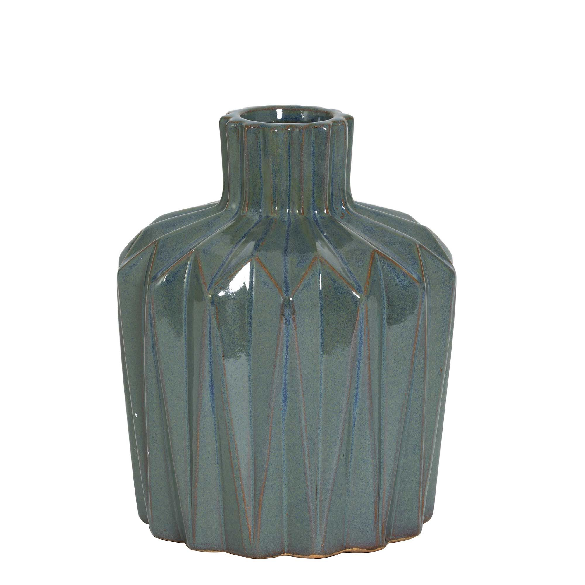 Agung Large Vase Blue Vases And Bowls Accessories With