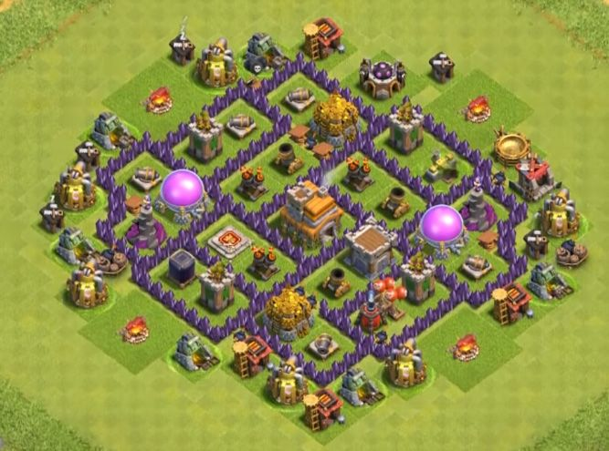 Best Th7 Farming Base Base Coc Th 7 Defense Terbaik 8