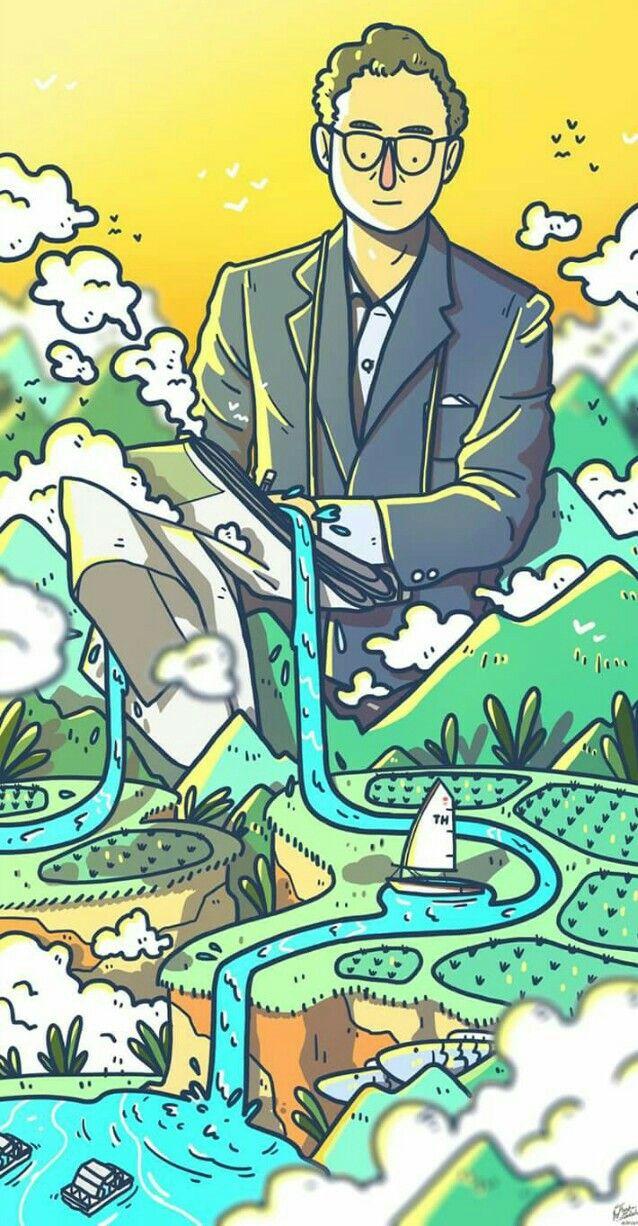 ป กพ นโดย Antony Li ใน 冰雪小镇 การออกแบบต วละคร การวาดคาแรคเตอร ภาพประกอบ