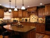 Tuscan Kitchen Design With Island