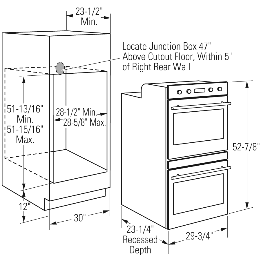 30 Double Wall Oven Cabinet Dimensions