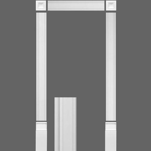Set marco para puerta kx003 molduras ornamentos for Decoracion de marcos de puertas