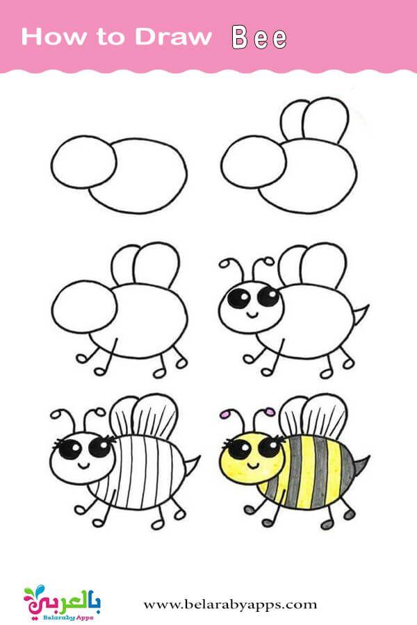 تعليم الرسم للاطفال خطوة بخطوة رسم اطفال كيوت بالعربي نتعلم Drawing For Kids Bullet Journal Doodles Art Drawings