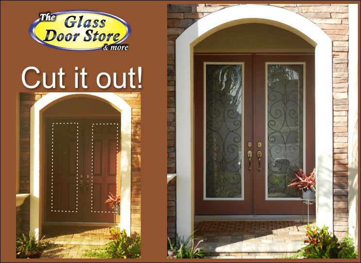 Cut The Doors To Add Wrought Iron Glass Inserts In 8 Ft Doors It