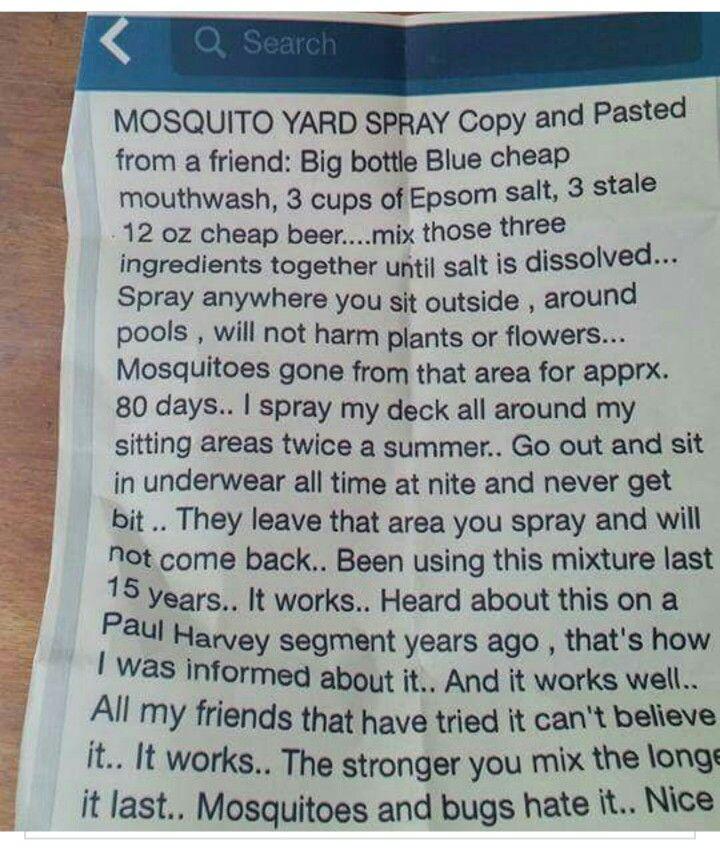 Mosquito Yard Spray From Paul Harvey Mosquito Yard Spray