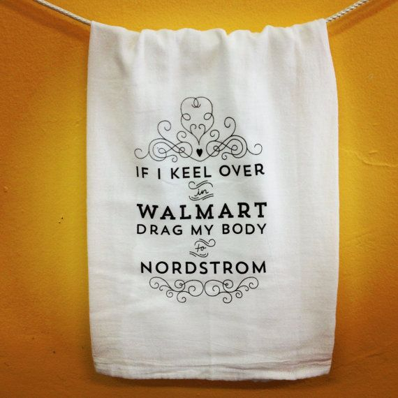 HandPrinted Flour Sack Dish Towel  Keel by KitchensOnTheSquare, $11.98