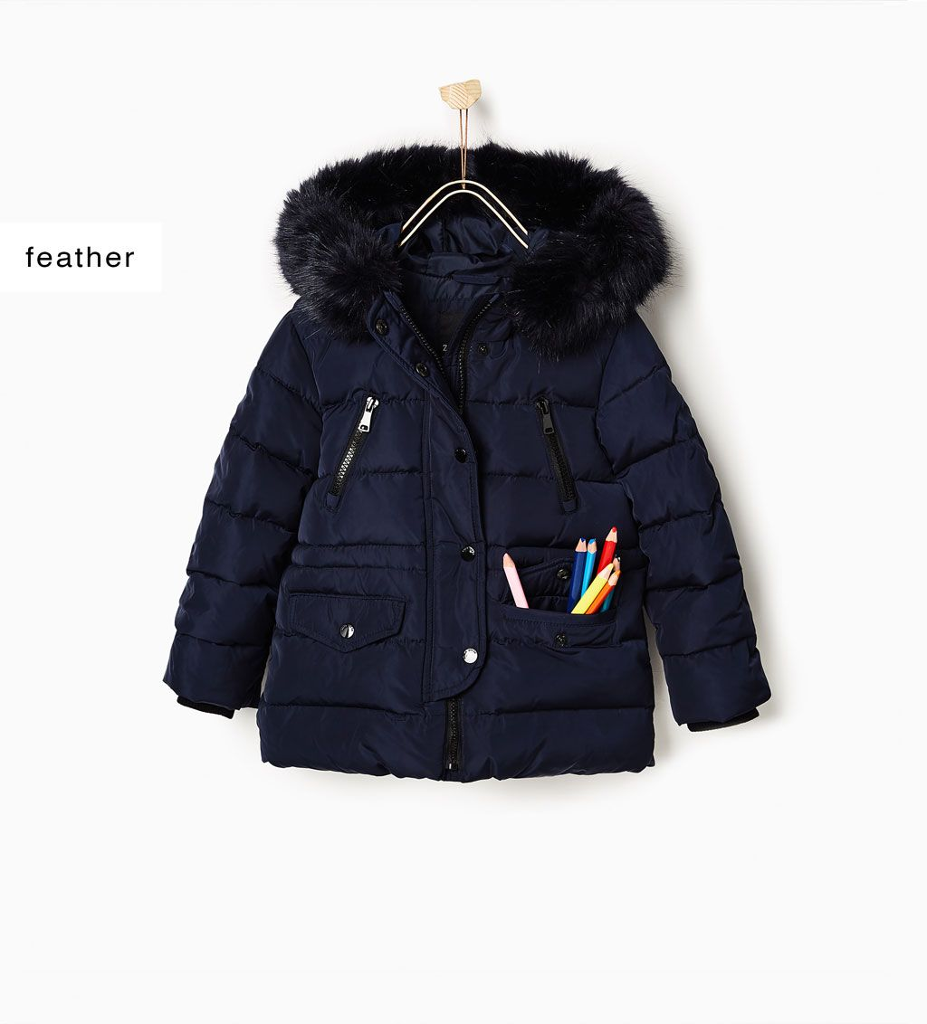 4cb5450e7 Size 4-Quilted coat with faux fur hood-COATS-GIRL | 4-14 years-KIDS-SALE |  ZARA United States