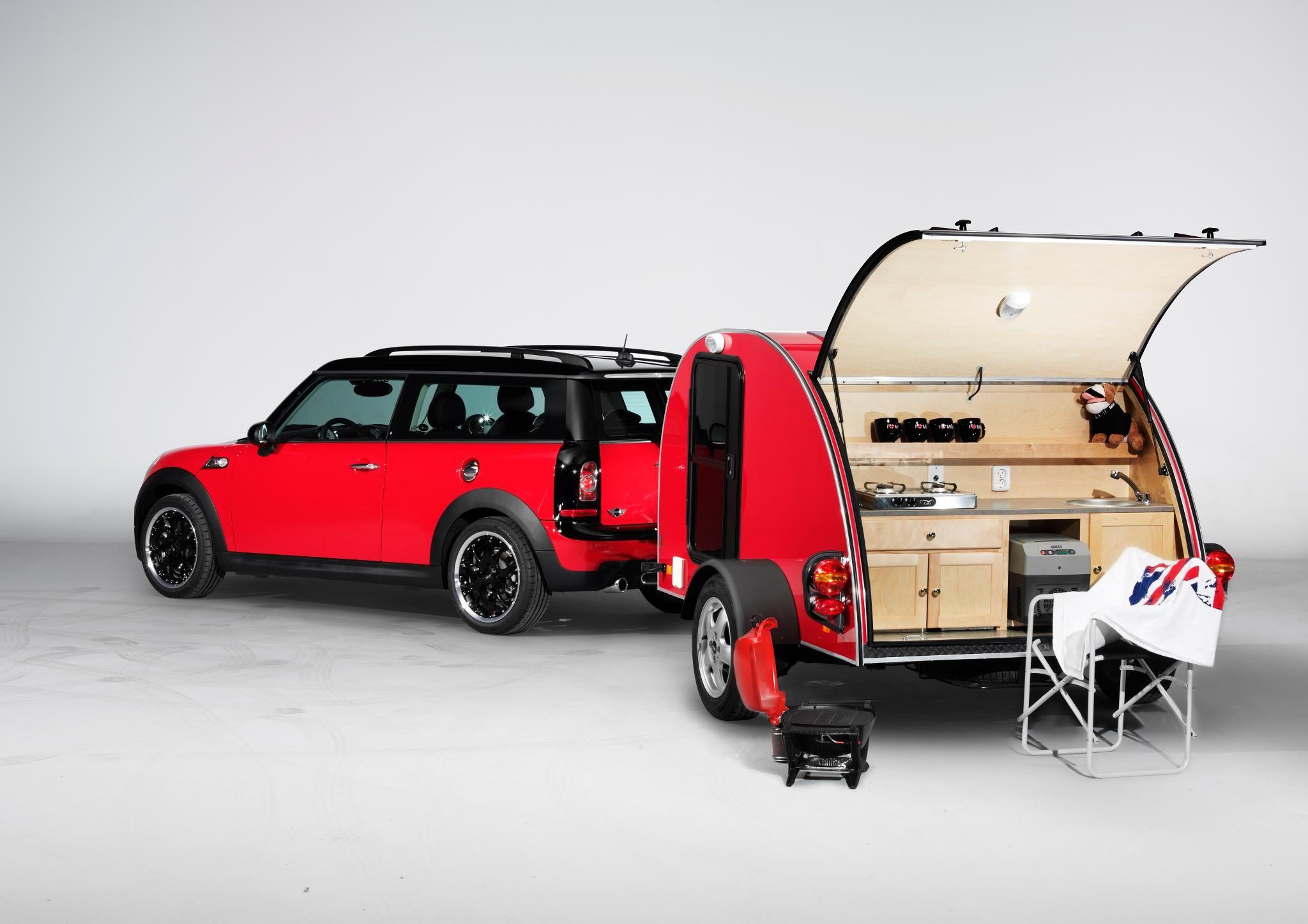 New Mini Cowley Caravan Add On Goes Greatly W Mini Clubman Mini Caravan Mini Camper Mini Clubman