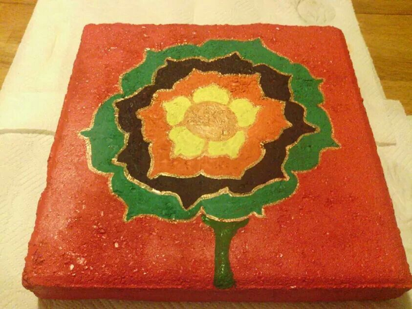 Concrete Stepping Stones I Painted Can Get Each For At Lowes - Does lowes sell spray paint