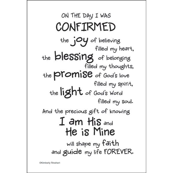 Catholic Confirmation Quotes From The Bible: On The Day A Child Is Confirmed