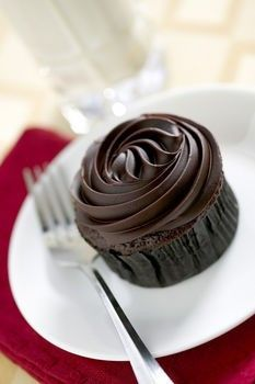 easy chocolate cupcakes with chocolate frosting