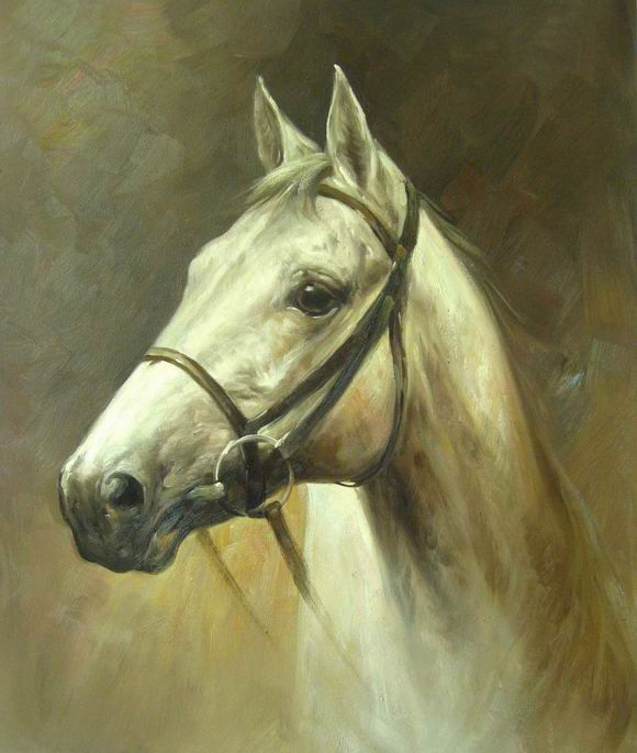 high quality handmade horse head portrait oil painting on ...