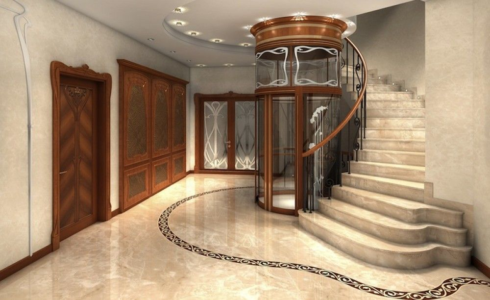 Visit Us For Luxurious Marble Staircase Designs, Ideas And Photos. Curved  Steps And Flooring