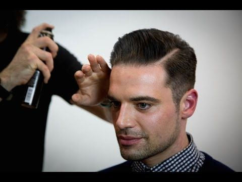 How To Cut A Quiff Haircut - Step by Step Video on cutting and styling a Quiff Hairstyle for men Added to Hairbrained by FreeSalonEducation.com