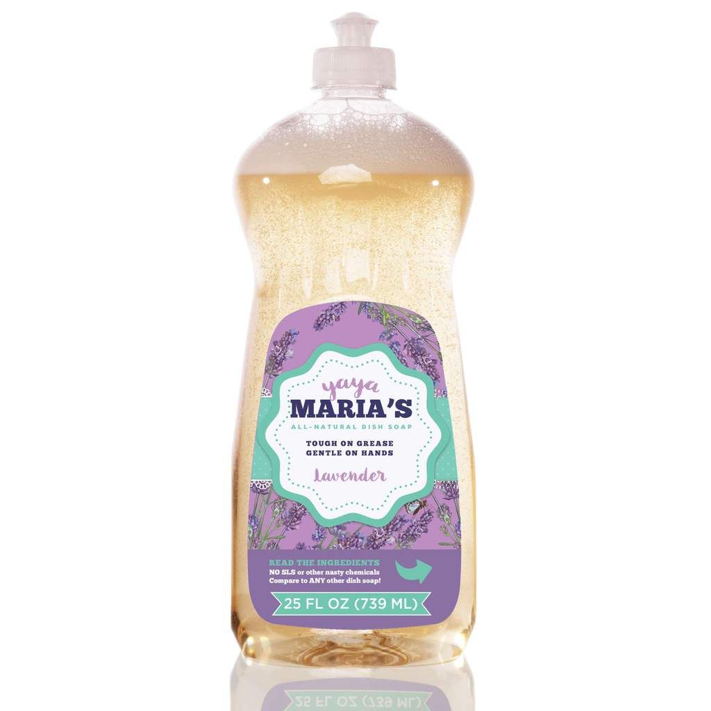 Yaya Maria S Natural Dish Soap Dishwashing Liquid Natural Dish Soap Natural Dishes Lavender Cleaner
