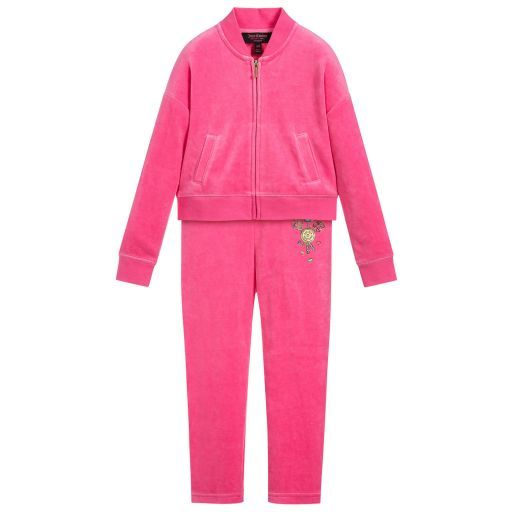 e67c4d680b1b Juicy Couture - Girls Pink Velour Tracksuit