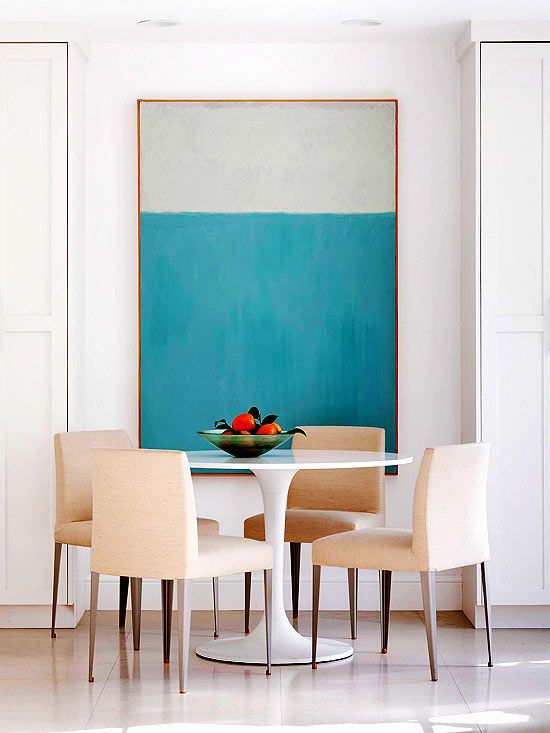 28 Simple Dining Room Ideas For A Stunning Inspiration: Cool Contemporary; Dining Room Inspiration (table And Wall
