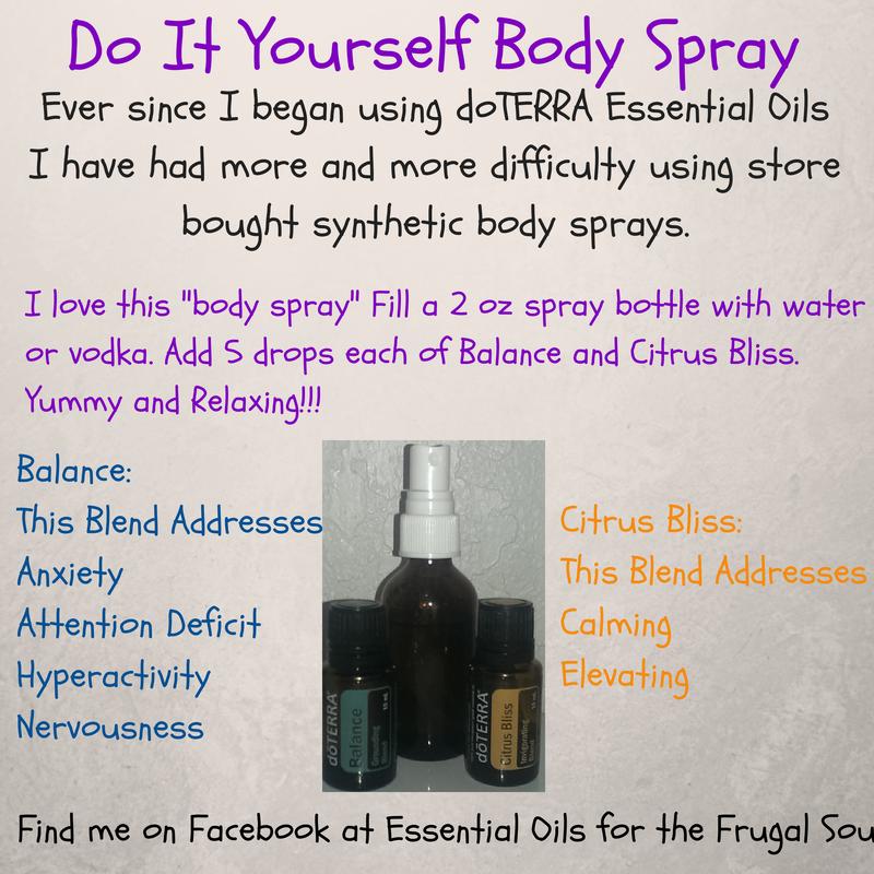 DIY Body Spray