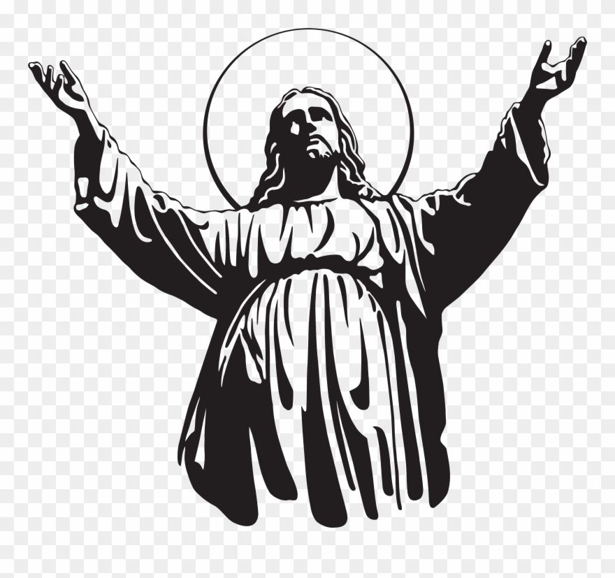 Download Hd Jesus Christ Son Of God Png Clip Art Jesus Silhouette Transparent Png And Use The Free Clipart For Your Creative Pro Christian Cross Art Clip Art