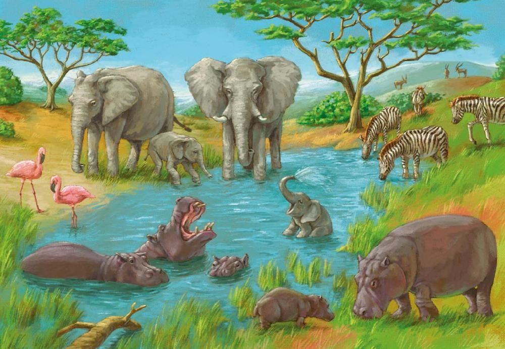 украшение рисунок зверей африки основного