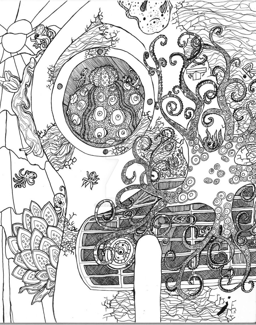Coloring Page 9: Ghosts in the Machine: where I took the machine ...