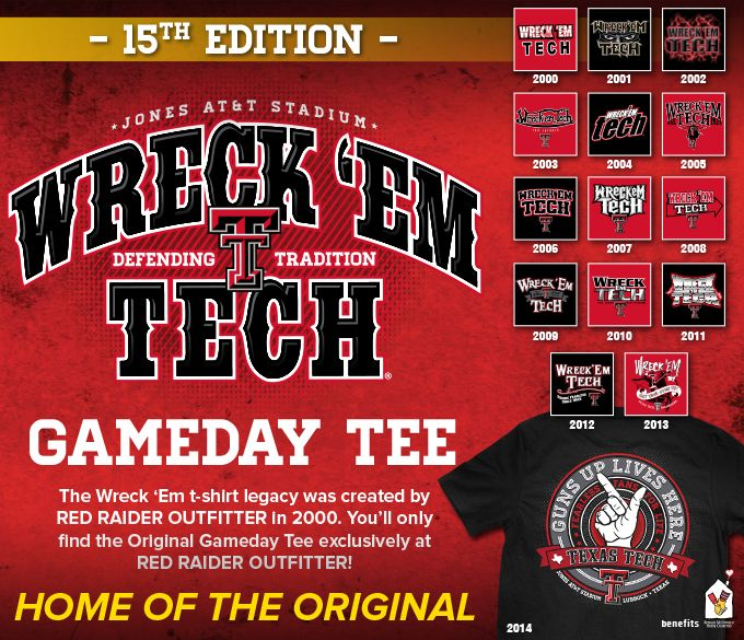 the Wreck'em texastech legacy continues... 2014 Grab