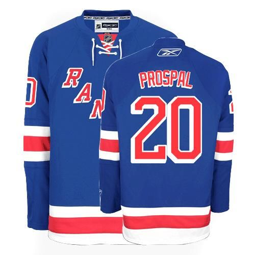 new york rangers vinny prospal 20 blue authentic jersey sale nhl rh pinterest com
