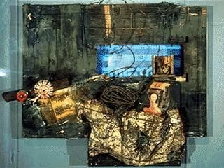 Media Art Net Vostell Wolf German View From The Black Room Cycle Art Black Rooms Painting