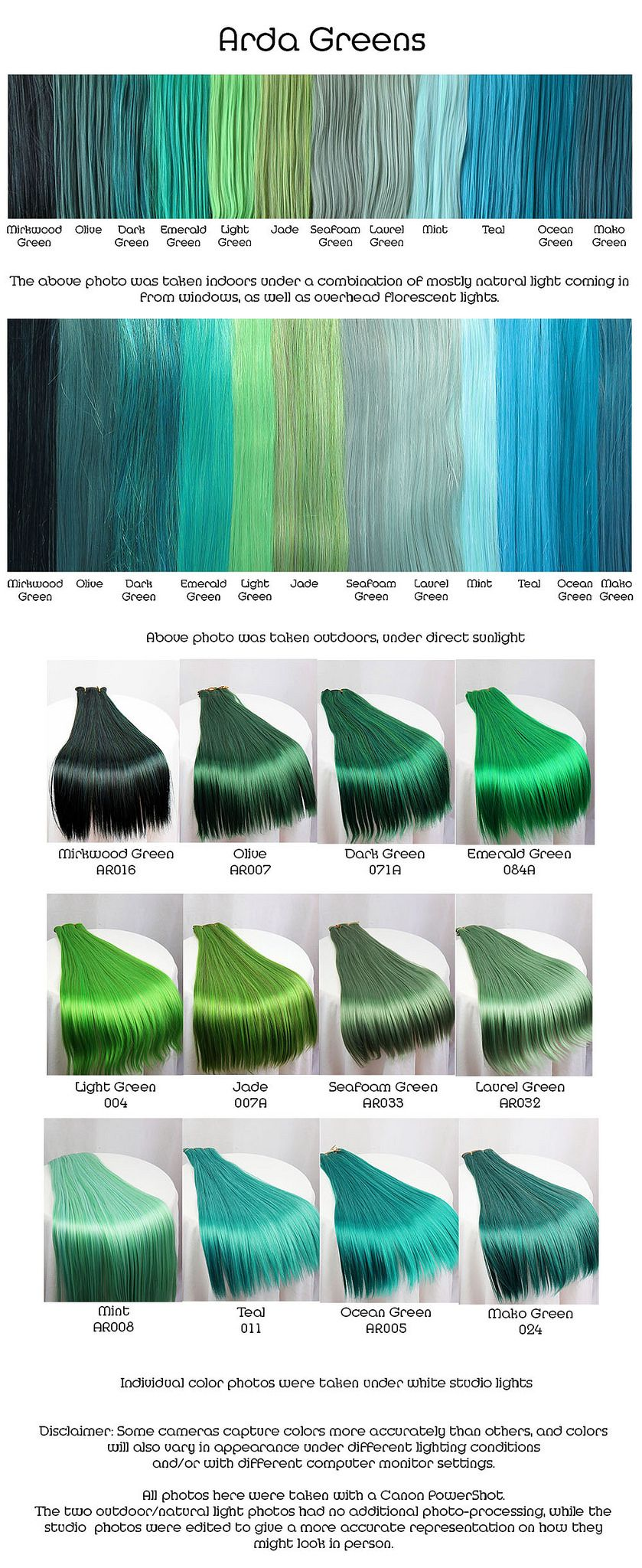 Greens hair coloring hair style and hair dye