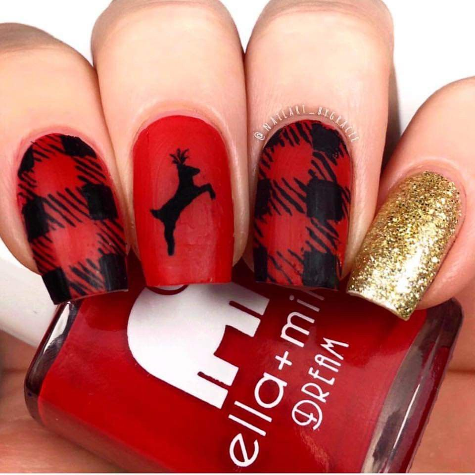 Nail Art Tutorial All I Want For Christmas Is Plaid: Pin By Christine Witkowski On Christmas