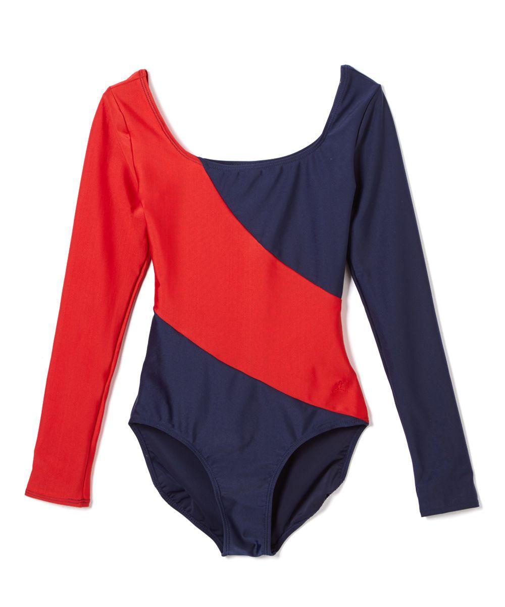 fb2242f85 Red Arch W Gymnastics Long-Sleeve Leotard - Petite Too