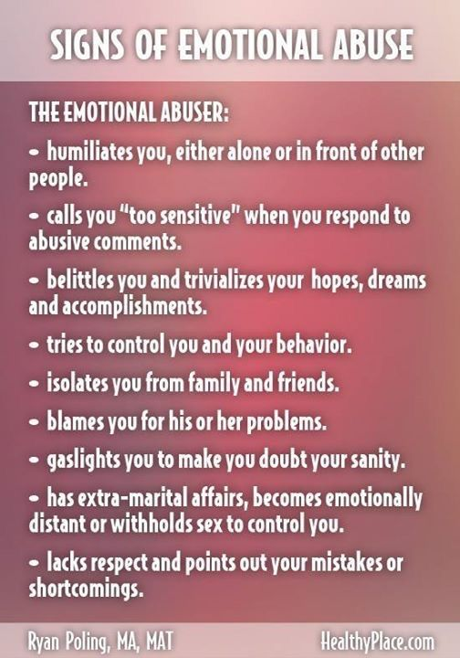 What are the signs of verbal abuse