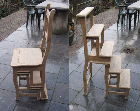 Chair Step Ladder Perfect For Libraries And High Kitchen Shelves