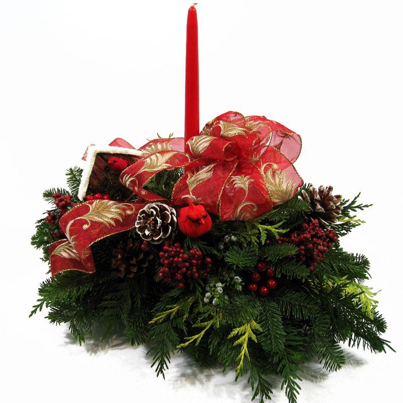FRESH CHRISTMAS CENTERPIECES Woodland Christmas Centerpiece