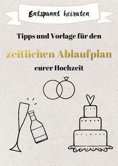 Zeitlicher Ablaufplan für die Hochzeit – Tipps und Vorlage zum ...