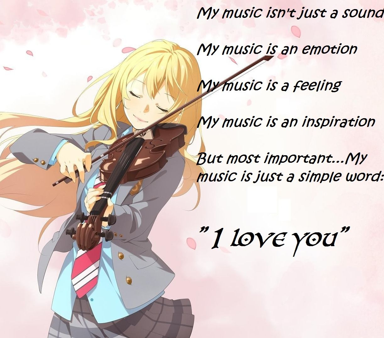 Just A Simple Wordi Love You Kaori Your Lie In April Your Lie