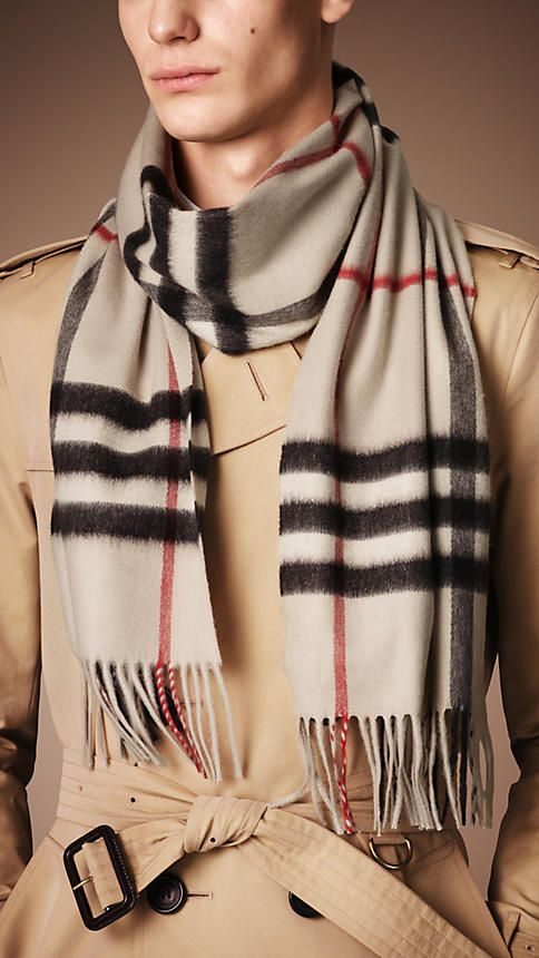 c7f09681b9ad The iconic Heritage Check Cashmere Scarf from Burberry