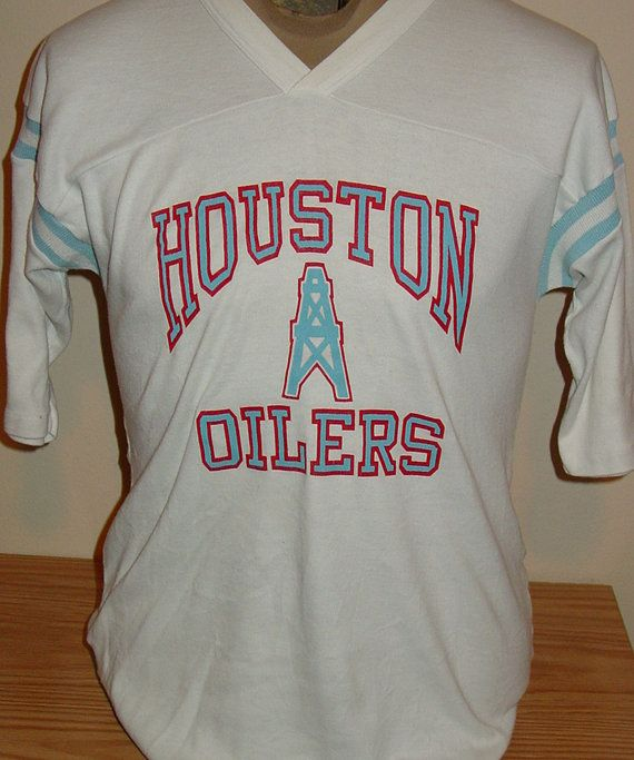 vintage 1980s Houston Oilers NFL football jersey t shirt  63aa8f136