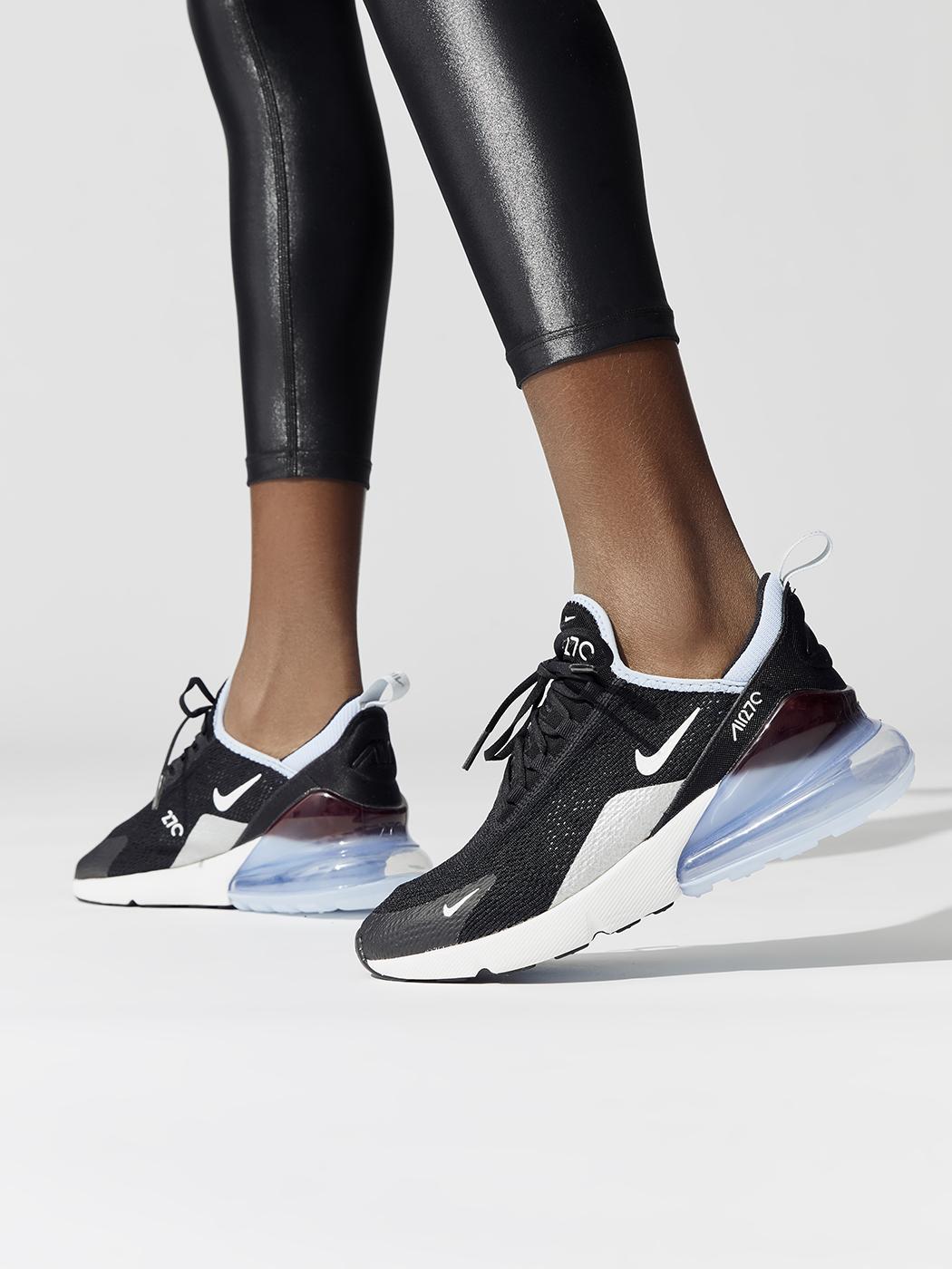 520a9feb44a88 Nike Women s Nike Air Max 270 - Black Alumninum-summit white - Fashion  Activewear
