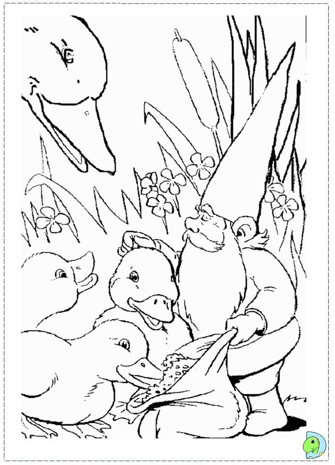 david the gnome coloring pages | David the Gnome Coloring page- DinoKids.org