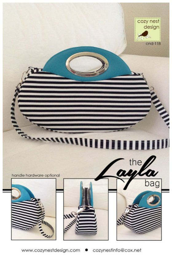 Sew the Layla Bag PDF Sewing Pattern from Cozy Nest Designs