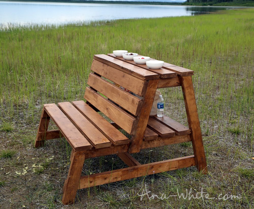 Firepit Benches With Table And Storage Fire Pit Bench Ana White