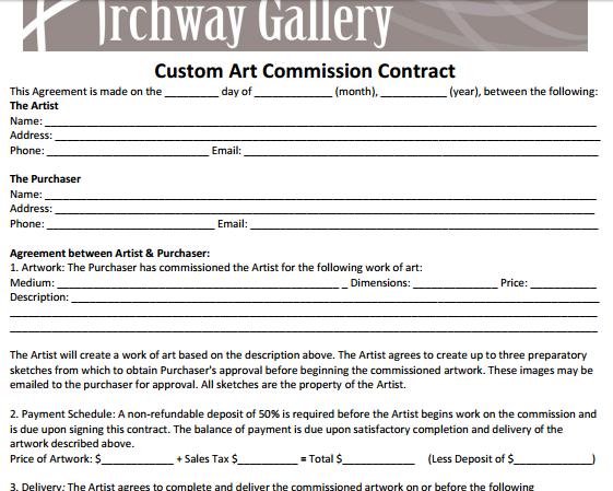 Contract Artist Artist Custom Art Artist Names