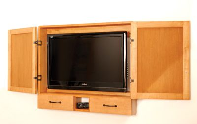 Merveilleux Off The Shelf Woodworking Jigs Help Build This Flat Screen TV Cabinet. Flat Screen  Televisions Are A Great Improvement Over Tube Type TVs. Todayu0027s Plasma
